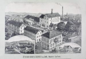 Fuchs-Brauerei von Joh. Maier Aalen.