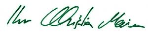 Unterschrift Christian Maier